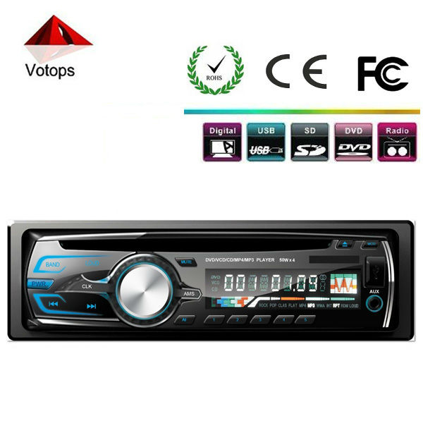 one din car dvd player support cd/vcd/mp3/mp4