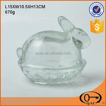 Hot sale glass bowl shape of rabbit manufacturers China