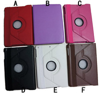 Smart cover for ipad mini leather red case. for ipad mini case Manufacture hot selling cover