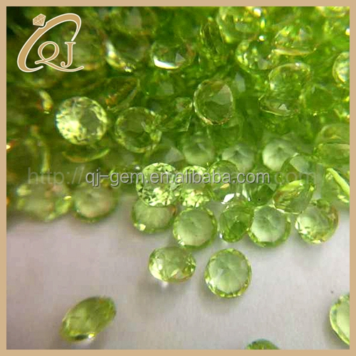 3.0mm Round Shape Natural Peridot Loose Gemstone for jewelry