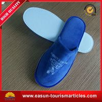 Cheap terry airline custom logo slippers promotional disposable slipper