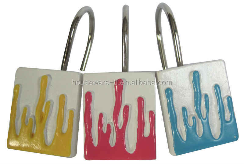 Bathroom accessories shower curtain hooks