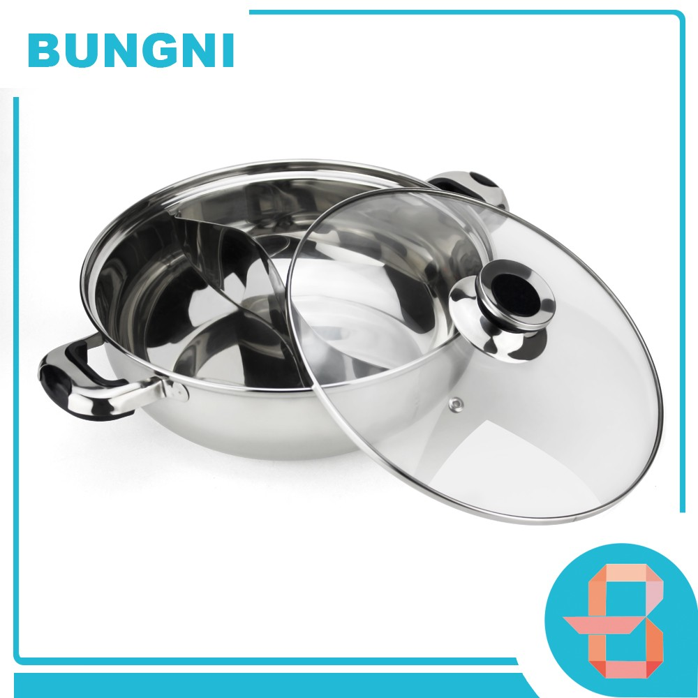 vintage cheap mini stainless steel soup pot with glass lid 2 compartment hotpot stock pot for induction gas cooker