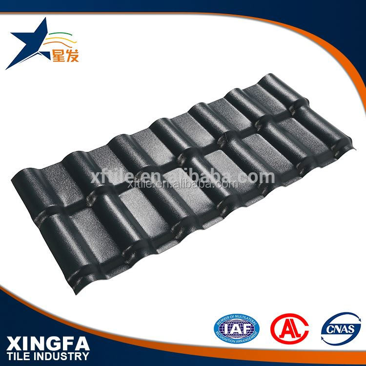 Good sound insulation grey synthetic resin roofing tile