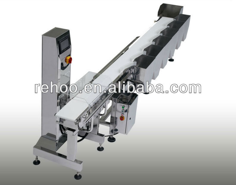 Automatic weight sorting machine for fish and chicken