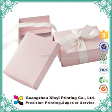 Custom design charming pink color wedding box gift