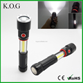Collapsible High Power LED Torch with COB Working Light