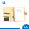 Hot Selling Leather Office Notebook With Pocket Spiral Notebook
