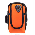 High quality neoprene material waterproof arm pouch with zipper for smart phone