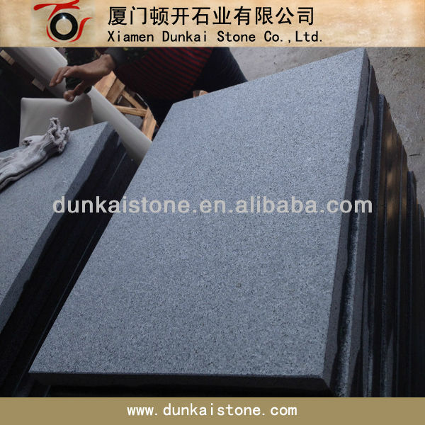 China black granite walkway paving tiles for garden project