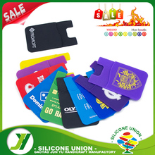 Promotional silicone smart phone wallet,cell phone credit card holder