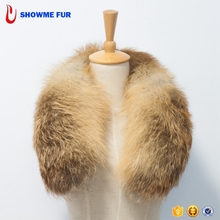 Long Style Detachable Fox Fur Square-Cut Shawl Collar