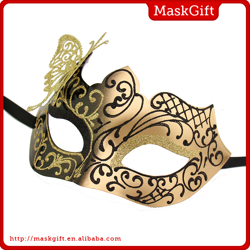 Half Face Masquerade Party Mask/Carnival Mask with Butterfly