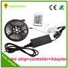 12v led strip set 5m ip20 nonwaterproof 300led rgb led strip sets 5050+power supply+remote controller