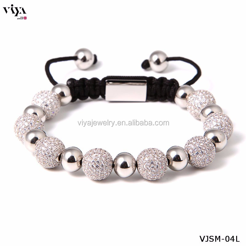 luxury 316 stainless steel pyramid bracelet for high end quality market