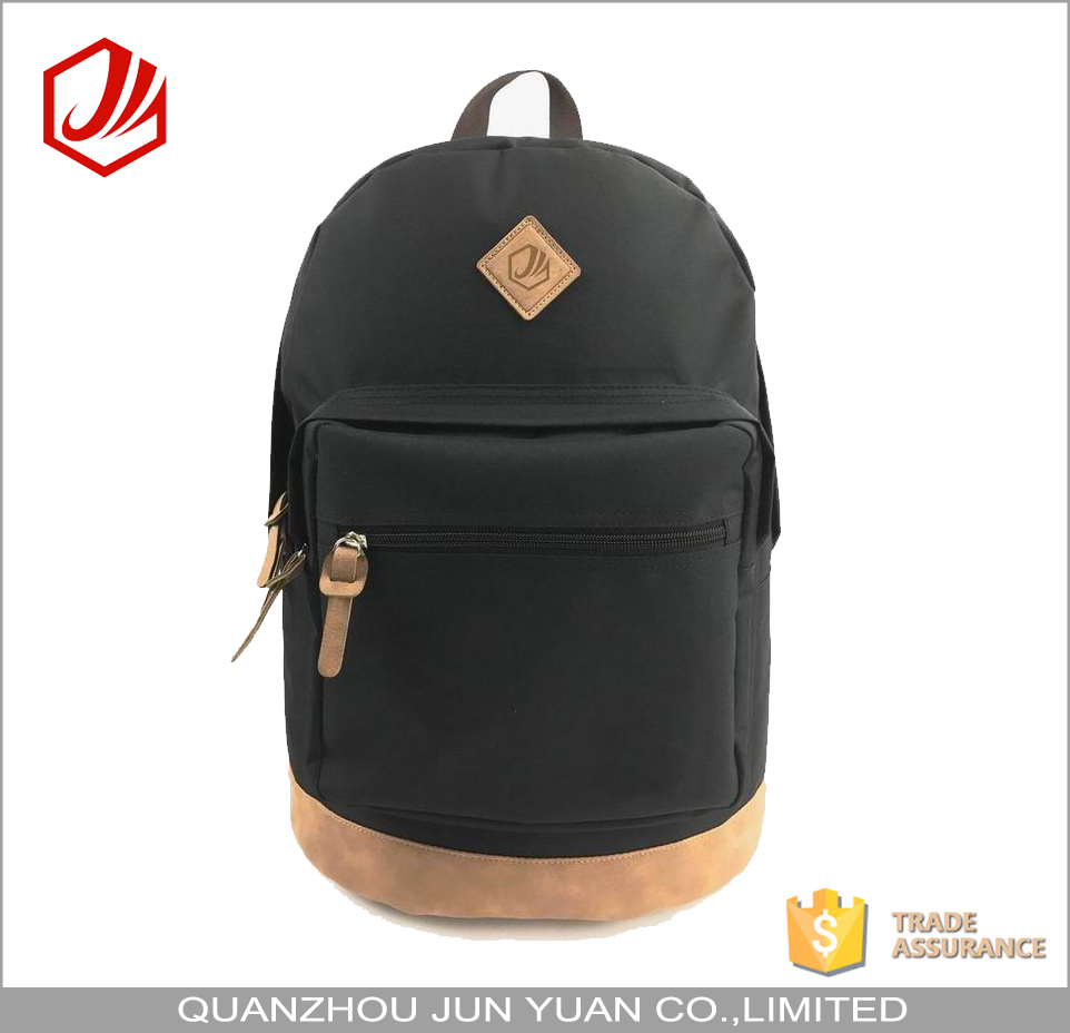 Hot selling china trendy black backpack school bags for teenagers