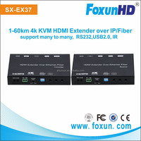 Foxun Newest SX-EX37 4k HDMI KVM extender over IP with RS232 Max 8x16 Unicast & Multicast Video wall controller system