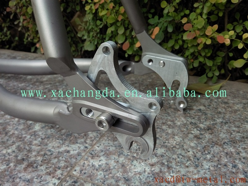 Professional custom 29inch titanium mountain bike frame XACD Ti 29er MTB bicycle frame with sand blast finished made bike frame