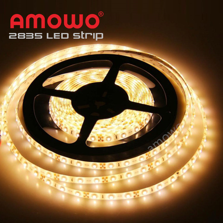 Non Waterproof IP20 7.2W <strong>m</strong> 3000K LED Strip Light 60led <strong>m</strong>, Flexible Warm White 12V 2835 LED Strip 60d