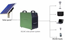 500w /1000w ac dc solar power kit with built-in battery 220v for home solar lighting system