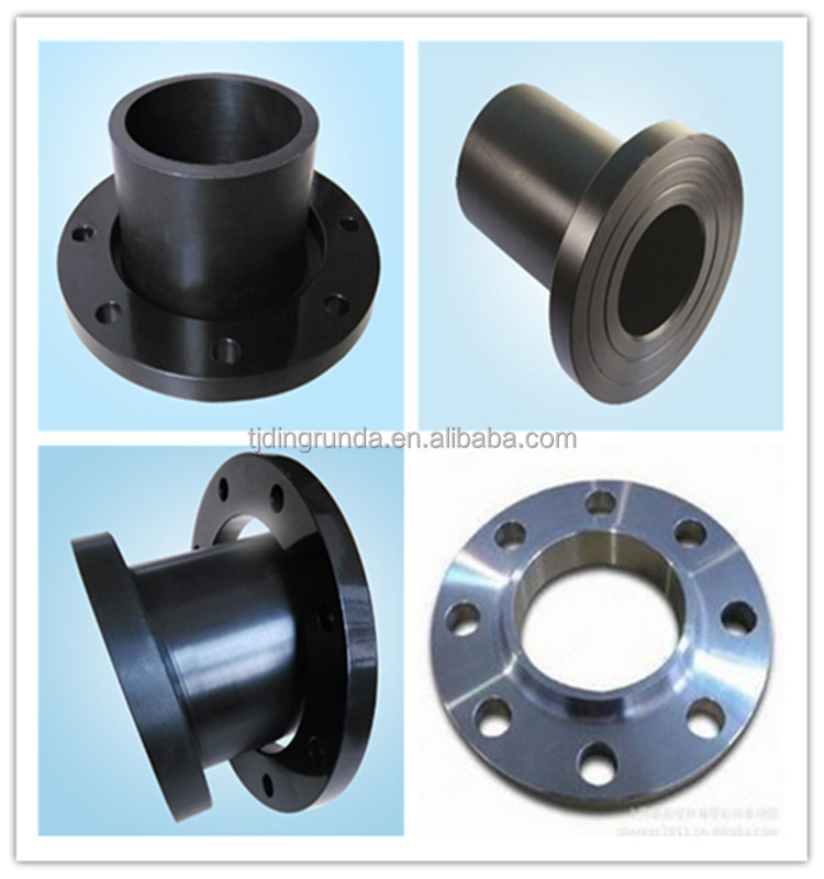 hdpe pipe fitting flange adaptor stub end 90degree hdpe elbow Tee