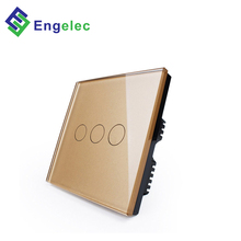 Wholesale smart wifi controlled power <strong>switch</strong> UK touch <strong>switch</strong> Null & live 3 gang 86*86 glass panel light <strong>switch</strong> wifi