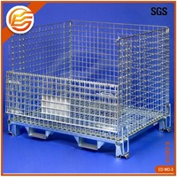 medium steel stillage stackable storage container metal pallet lifting cage