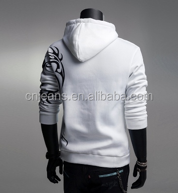 GZY -2016new autumn stocklot men fashionable 100% cotton hoodies blank