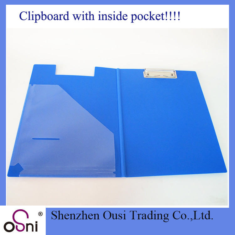 2017 Wholesale storage clipboard with cover presentation folder pocket clipboard