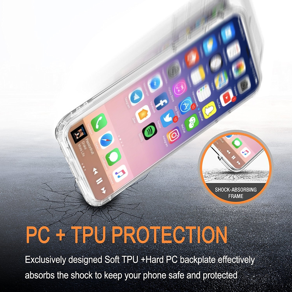 Electroplate Silver IMD Printing Clear TPU Soft Slim Flexible Silicone Protective Cover Phone Case for iPhone 7 / 8
