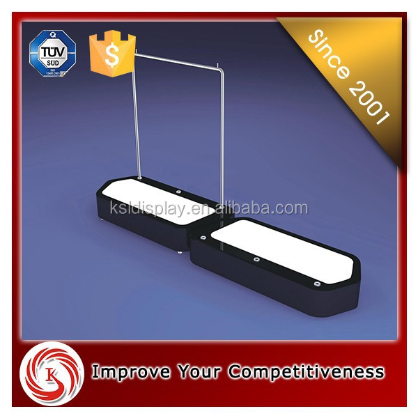 KSL New products metal clothes hanging stand system for clothes store