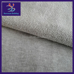 250-265gsm fleece fabric CVC 60/40 melange terry fabric