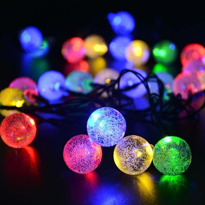 eitai outdoor 30 led crystal ball fairy lights