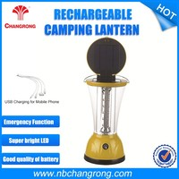 New Indoor Portable Rechargeable Solar Led Light Lantern