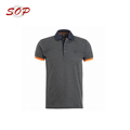 Microfiber Different Color Collar And Rib Polo Shirt