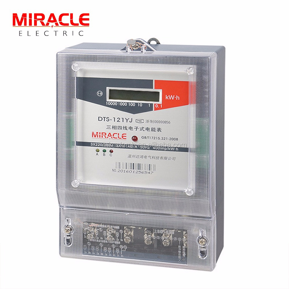 Three Phase Electronic Meters meter number electricity