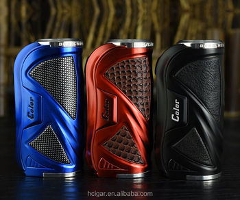 HCigar VT75 color box mod with Evolv DNA75 color Chipset