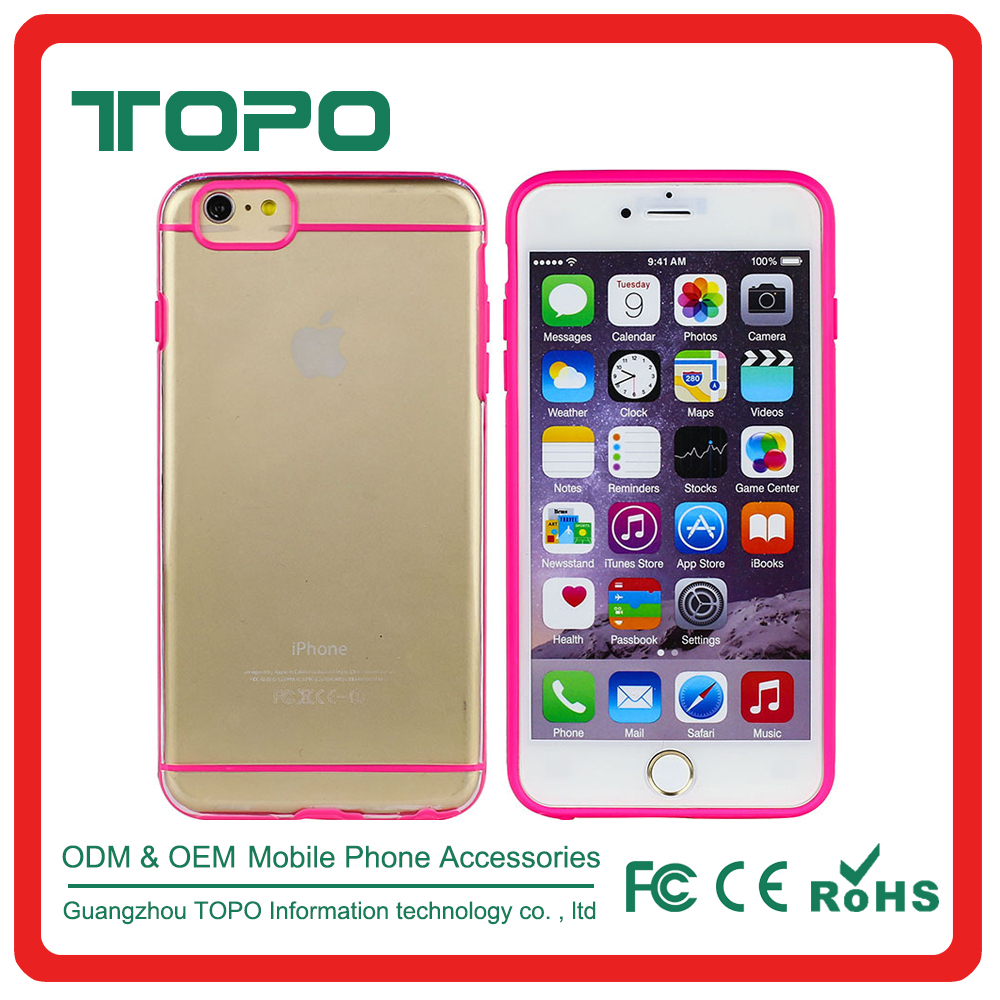 Clear Ultra-Thin Anti-scratch Hard PC Back cover Transparent Phone Case TPU Bumper Case For iphone 6 6s plus