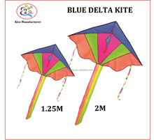 Easy Flying Hot Sale Blue Delta Rainbow Kite Children Garden Toy