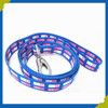 Fashionable Adjustable Customized Woven Dog Leash with Alloy Hook