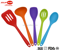 2017 Promotion hot sale set of 5pc kitchen accessories non stick silicone kitchen utensils