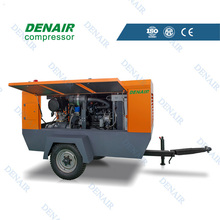 Hot sale portable diesel rotary screw air compressor