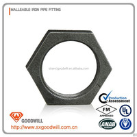 Malleable Iron Pipe Fitting Galvanized Back Nuts(China Factory)