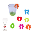 Party Dedicated Wine Glass Silicone Label Rubber Wine Glasses Recognizer Marker Wine label clip