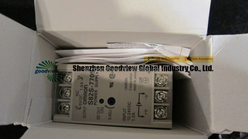 NEW OMRON S82S-7705 POWER SUPPLY INPUT DC12-24 OUTPUT 5V 1.5A