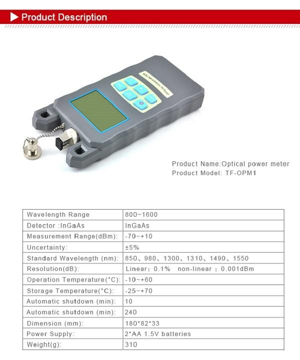 Handheld Laser Power Meters : Cheapest handheld mini optical power meter