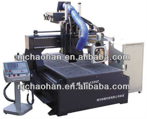 Steel Lathe Bed Automatic Tool Changing Function 8 Knives Stores Large Wood Cnc Engraving Machine