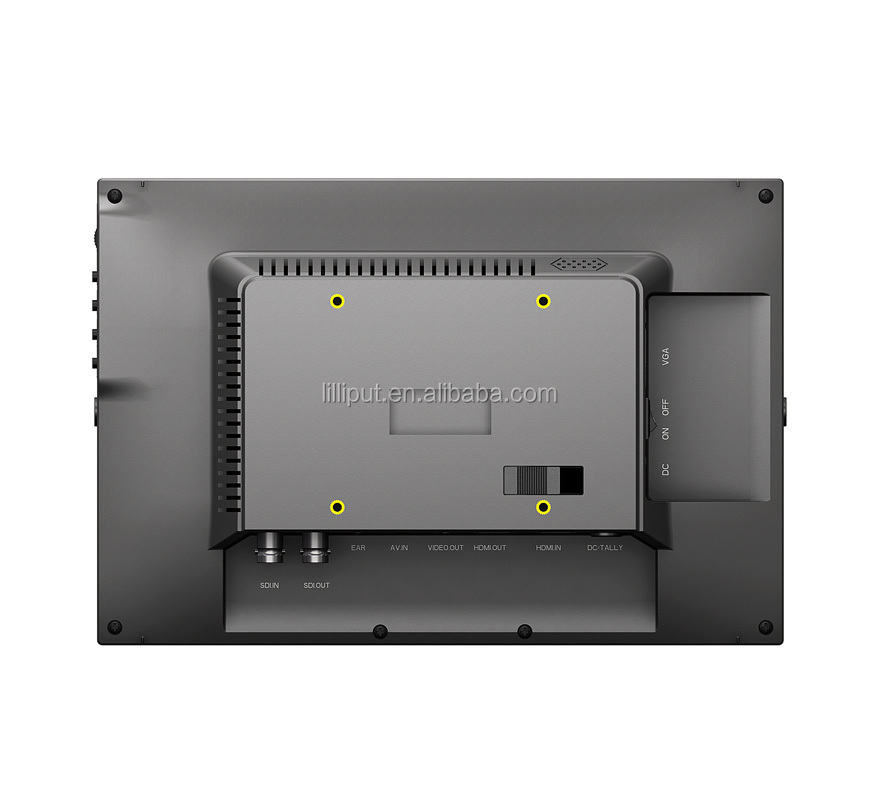 "10.1"" 3G-SDI camera monitor with integrated dustproof front panel."