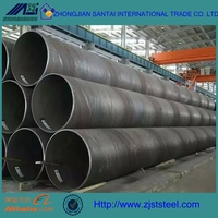 JIS DIN SPCC large diameter spiral mil carbon welded steel pipe for structure tube