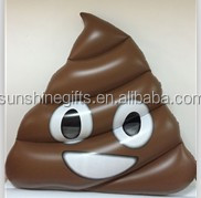 large inflatable emoji poop pool float/inflatable pvc water play swimming equipment